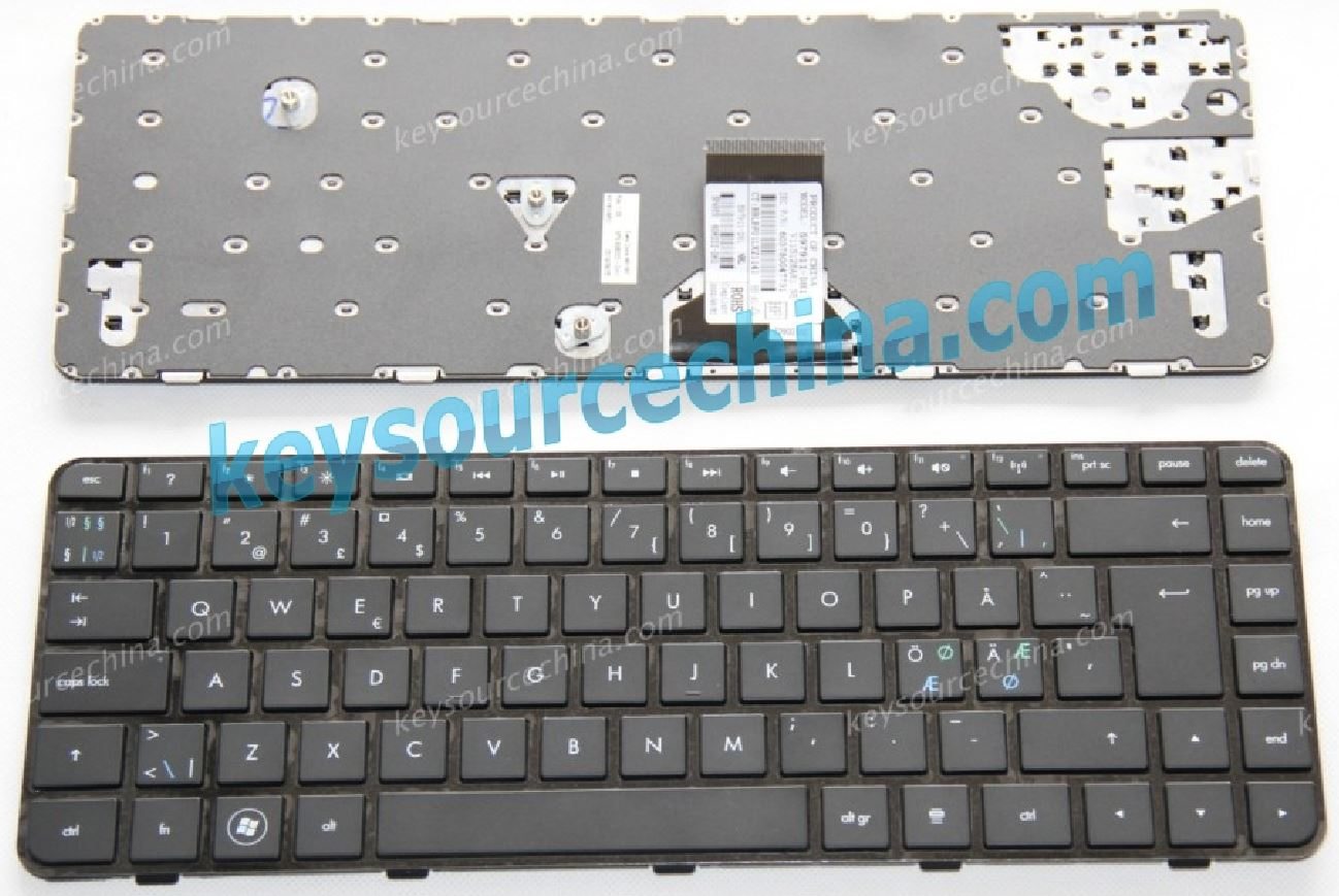 608222-DH1 597911-DH1 HP dm4-1000 Nordic laptop keyboard