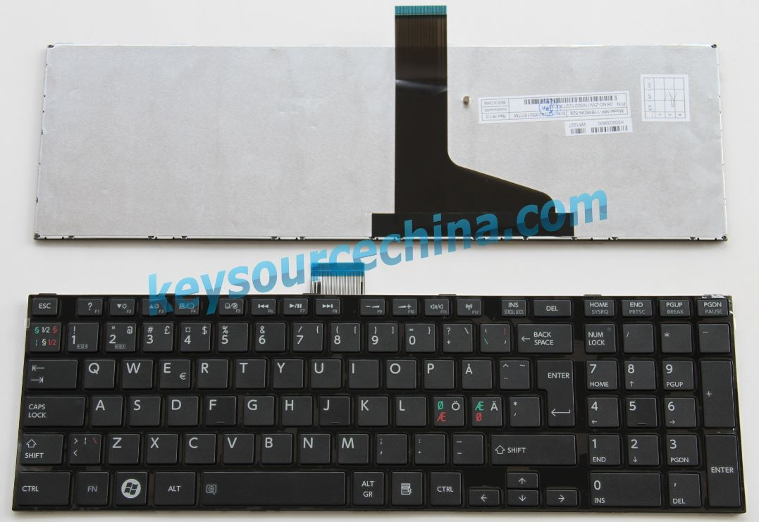 MP-11B56DN-528 0KN0-ZW1N502 Toshiba L850 X870 P870 P875D Nordic keyboard black with frame