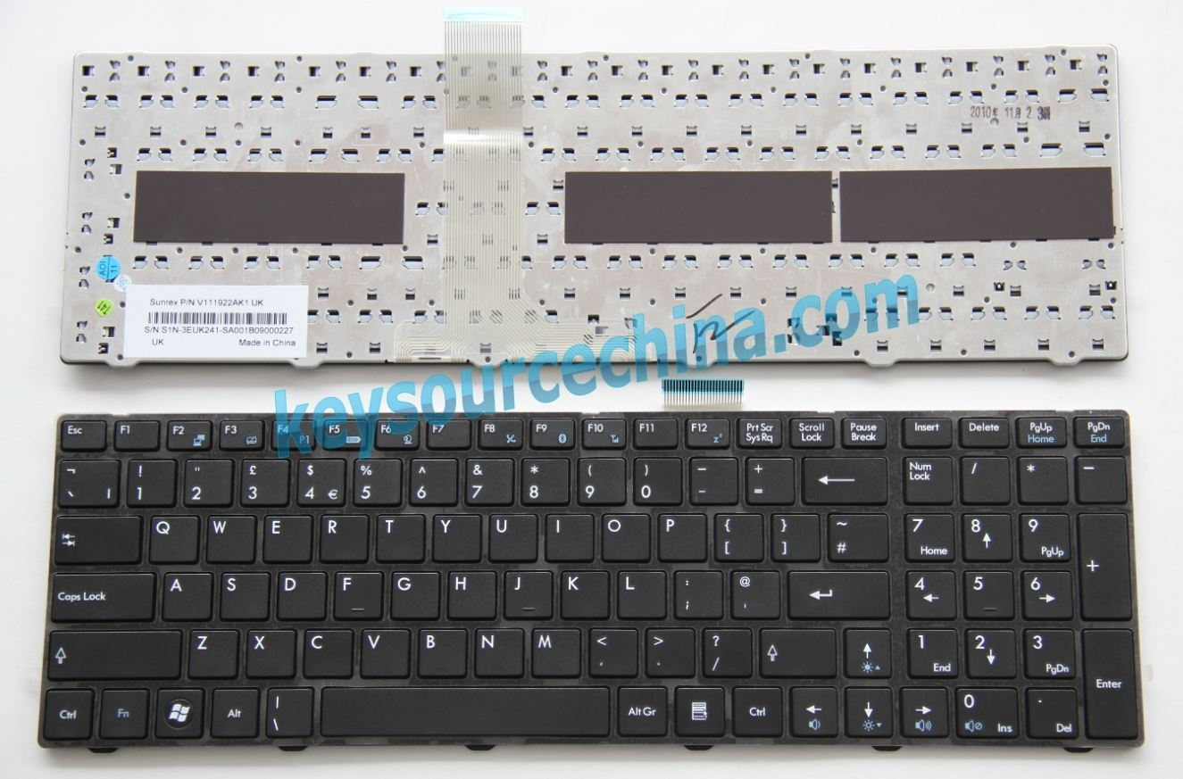 V111922AK1UK Original Medion Akoya X6811 X6812 X6813 X6817 X6819 X6821 X6823 X6825 X7813 X7815 P6512 E6313 laptop Keyboard UK Complete NEW