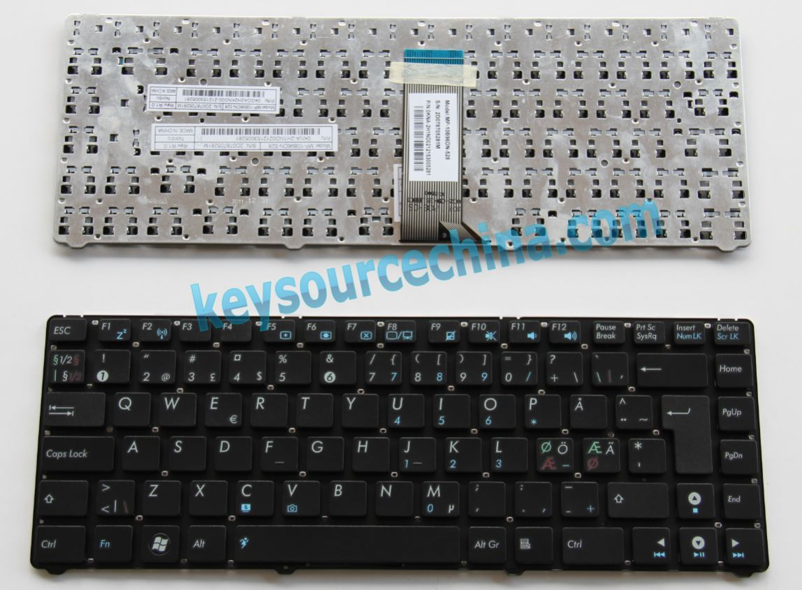 04GOA2H2KND002 MP-10B96DN-920 Asus 1215 Nordic laptop keyboard