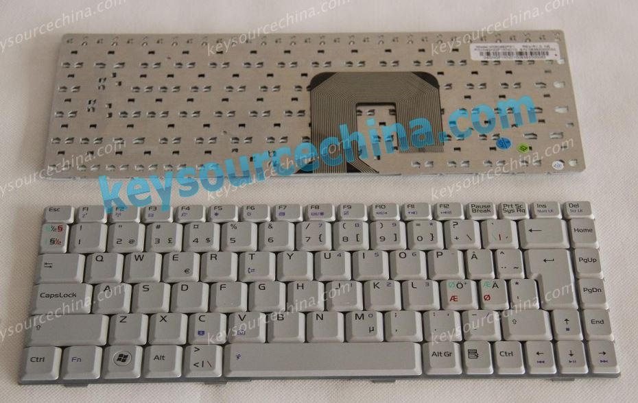 04GNQF1KND10 ASUS F9 keyboard silver Nordic keyboard