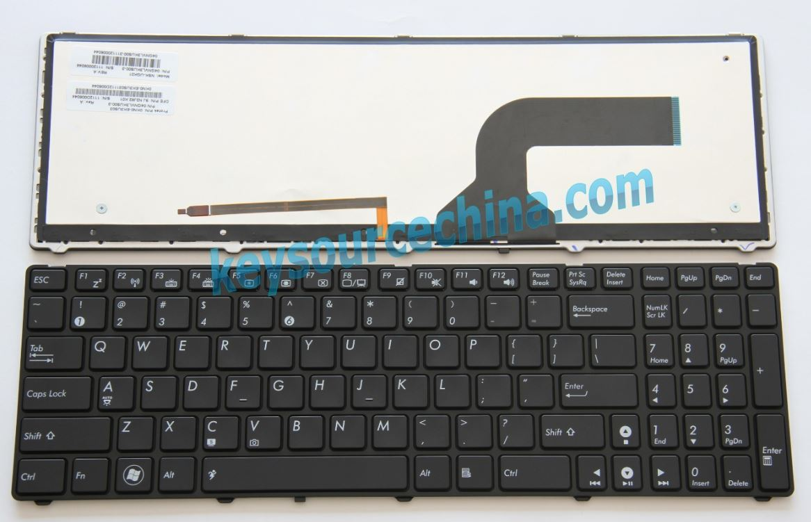 9J.N2J82.G01 Original ASUS G51 G51J G51JX G53 G53SW G53SX G60 G60JX G60VX G72 G73 G73JH G73JW VX7 U50VG Laptop Keyboard US Complete NEW