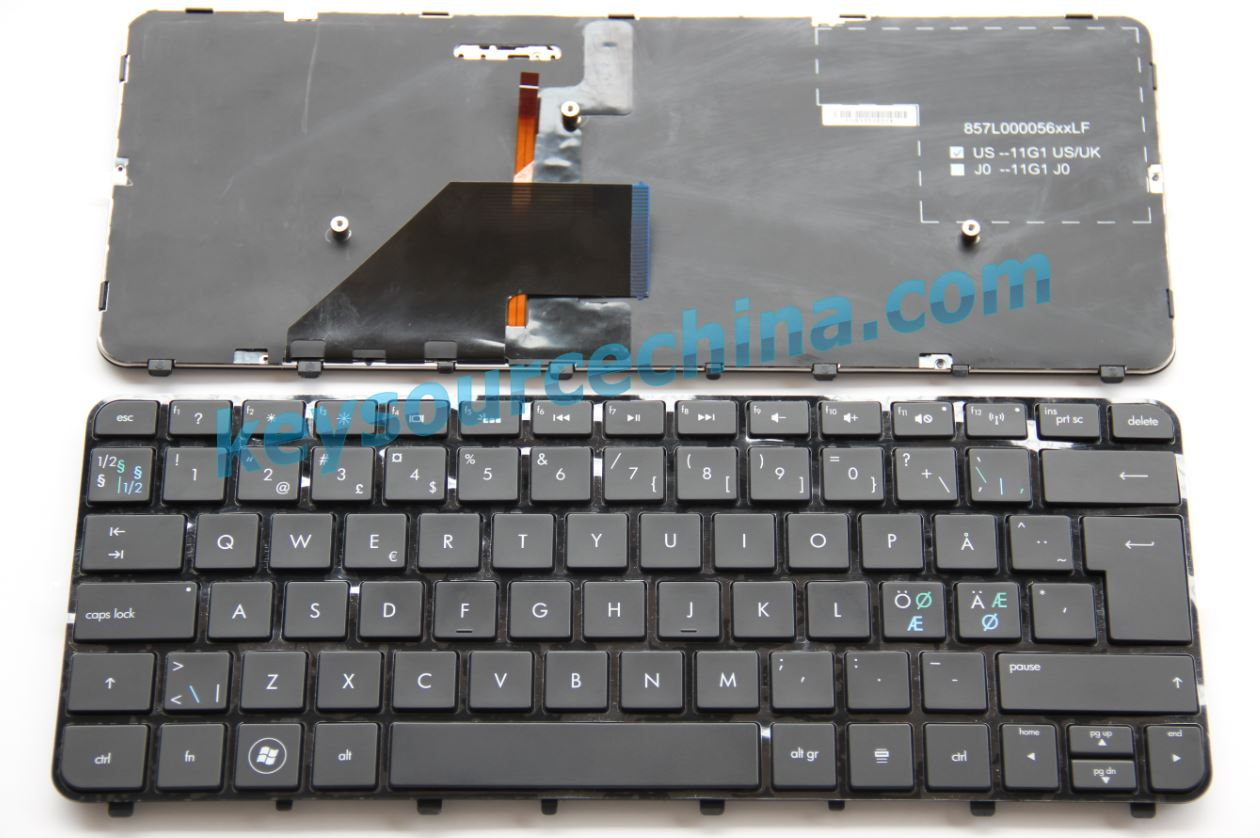 HP Folio 13 Nordic laptop keyboard black