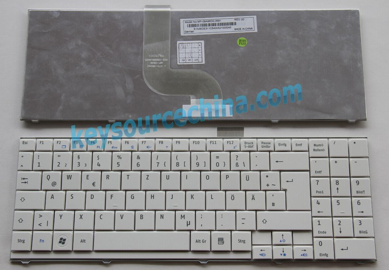 MP-11G36D0-698W Schwarz Tastatur Keyboard ohne Rahmen komptibel f/ür P//N THT Protek DEUTSCHE