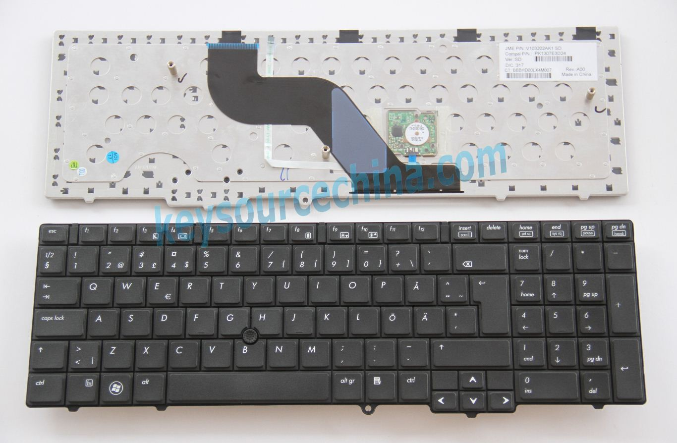 MP-09A86S0-698 Alkuperäinen HP Probook 6540b 6545b 6550b 6555b Ö Ä Swedish Finnish Keyboard
