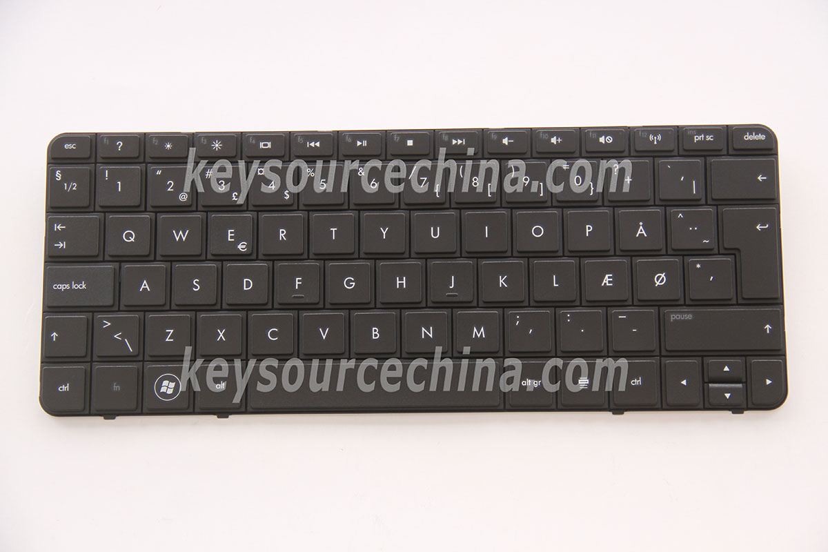 MP-09K86DK-920 Originalt HP Mini 210-1000 210-1100 Series Danish Keyboard