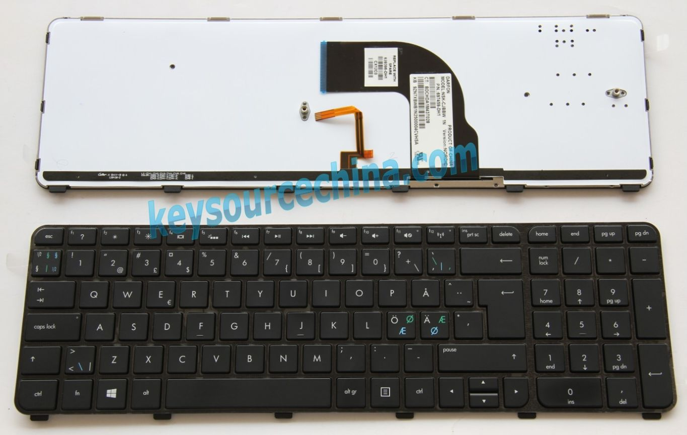 NSK-CJBBW 1N Originalt HP Envy dv7-7300 dv7-7301so dv7-7302eo dv7-7305eo Nordic Keyboard