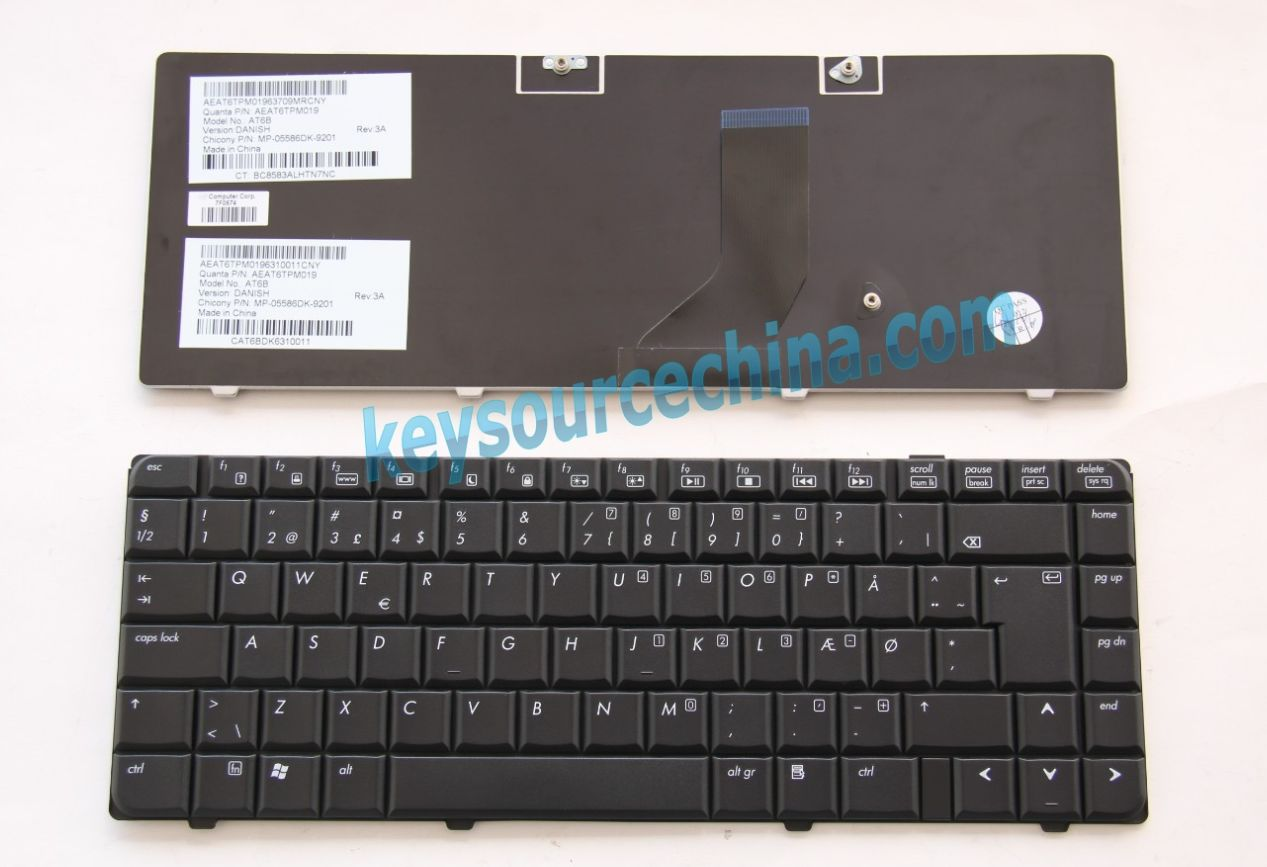 MP-05586DK-9201 Originalt HP Pavilion DV6000 series Danish Keyboard
