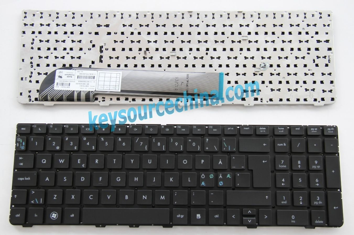 MP-10M16DN-930 Originalt HP Probook 4530S 4535S 4730S Nordic Keyboard