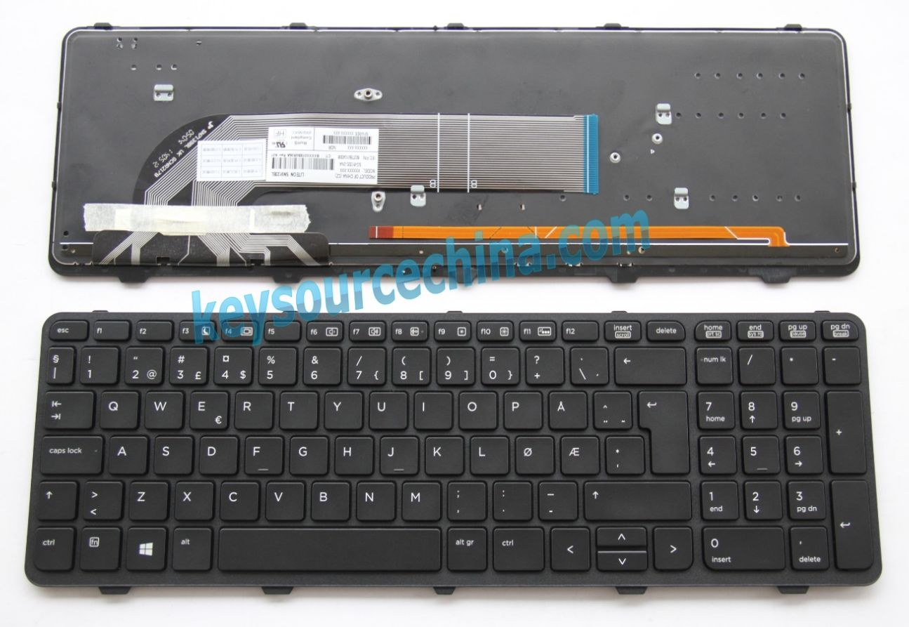 SG-61320-2NA Originalt HP ProBook 450 G0, 450 G1, 455 G1 Norwegian Keyboard