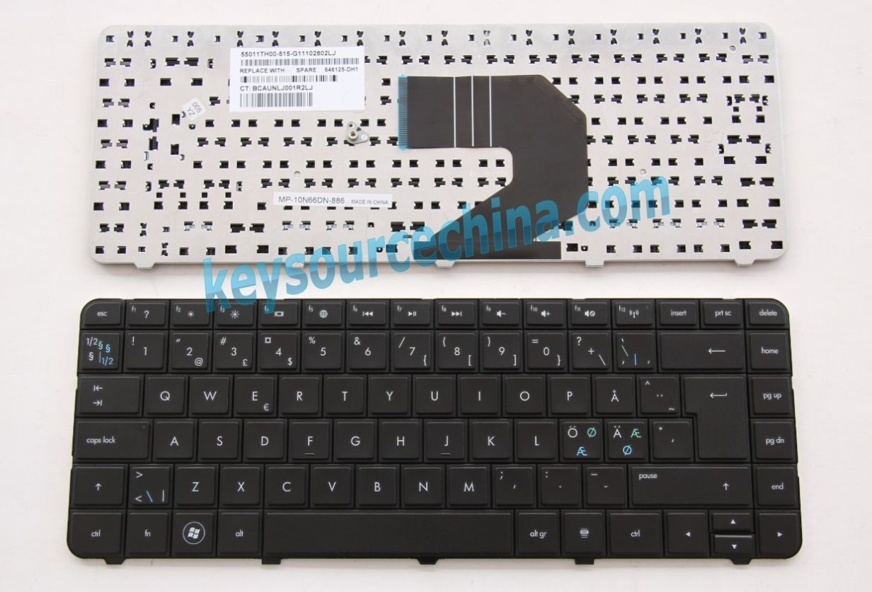 MP-10N66DN-886 Originalt HP Pavilion g4 g6 g6-1224eo g6-1315so g6-1330eo Nordic Keyboard