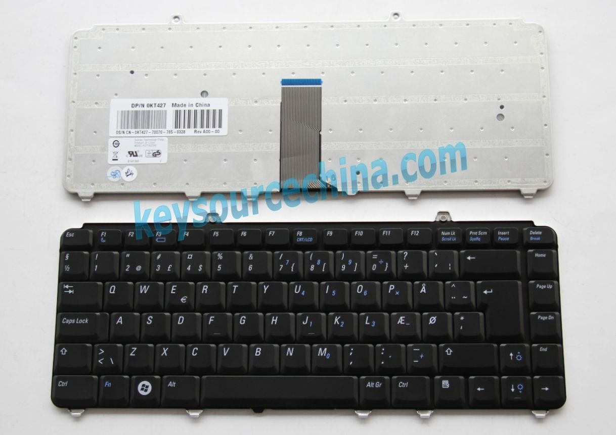 0KT427 Originalt Dell Inspiron 1318, Vostro 500 1400 1500 Danish Keyboard