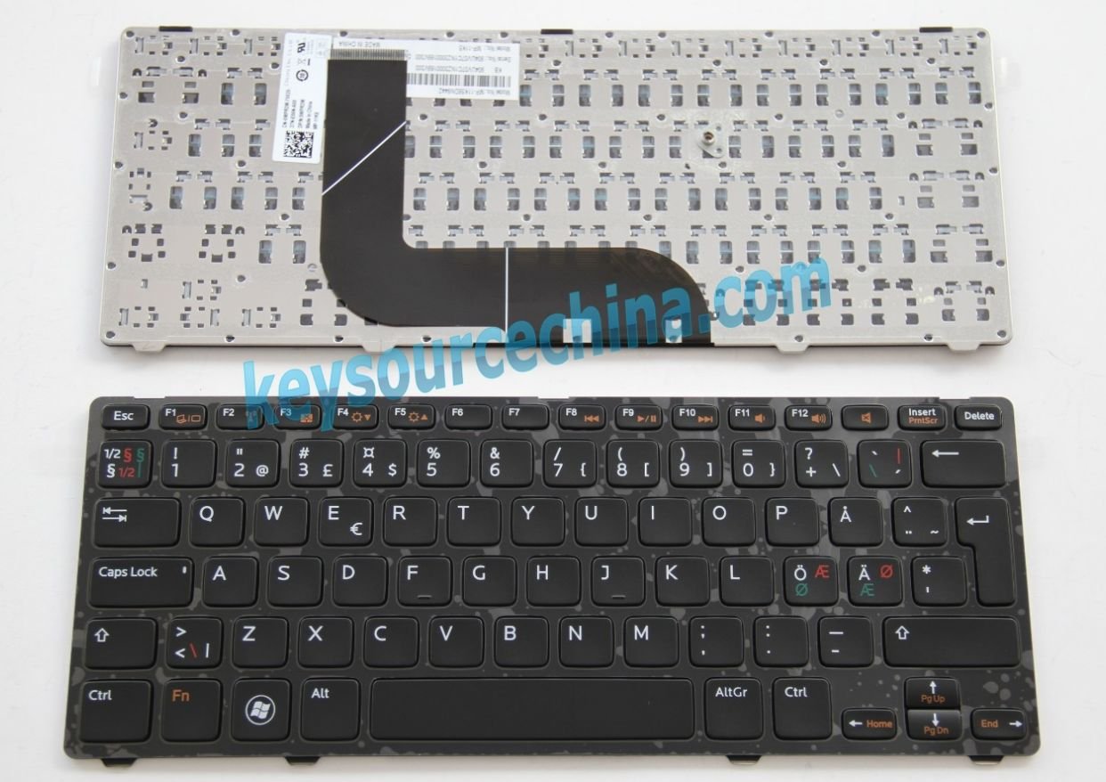 MP-11K56DN6442 Originalt Dell Inspiron 5423 13z-5323 14z-5423; Vostro 3360 Nordic Keyboard