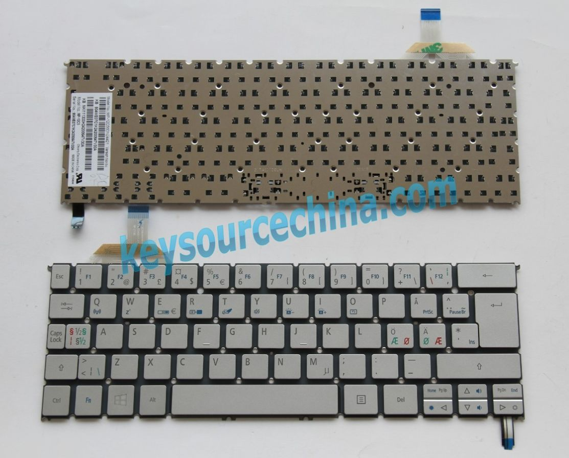 MP-12C56DNJ4421 Nordic Keyboard,904WE07C1K Nordic Keyboard,NKI111300H Nordic Keyboard,Acer Aspire S7-391 Nordic Keyboard
