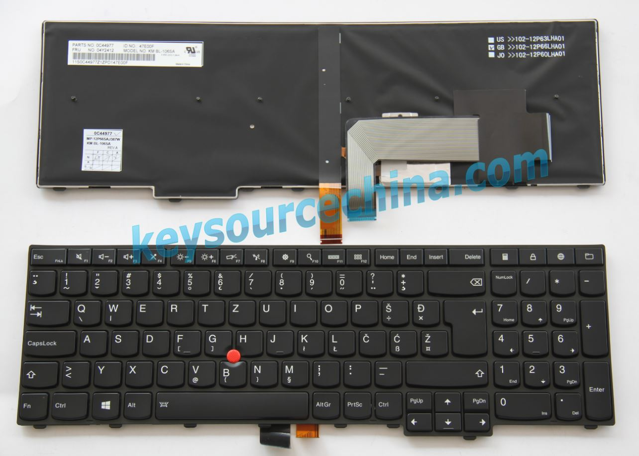 MP-12P66SAJ387W Montenegro Laptop Keyboard for Lenovo ThinkPad L540 T540P W540, Edge E531 E540