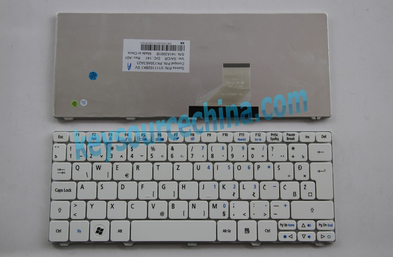 V111102BK1 Original Acer Aspire One 521 522 532H D255 D260 D270 HAPPY 2,eMachines eM350 Nav50 Bosnian Serbian Macedonian Montenegro Keyboard