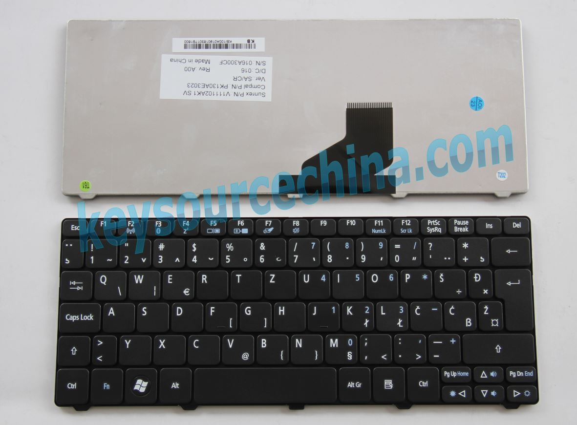 V111102AK1 Original Acer Aspire One 521 522 532H D255 D260 AO532 HAPPY 2,eMachines eM350 Nav50 Bosnian Serbian Macedonian Montenegro Keyboard