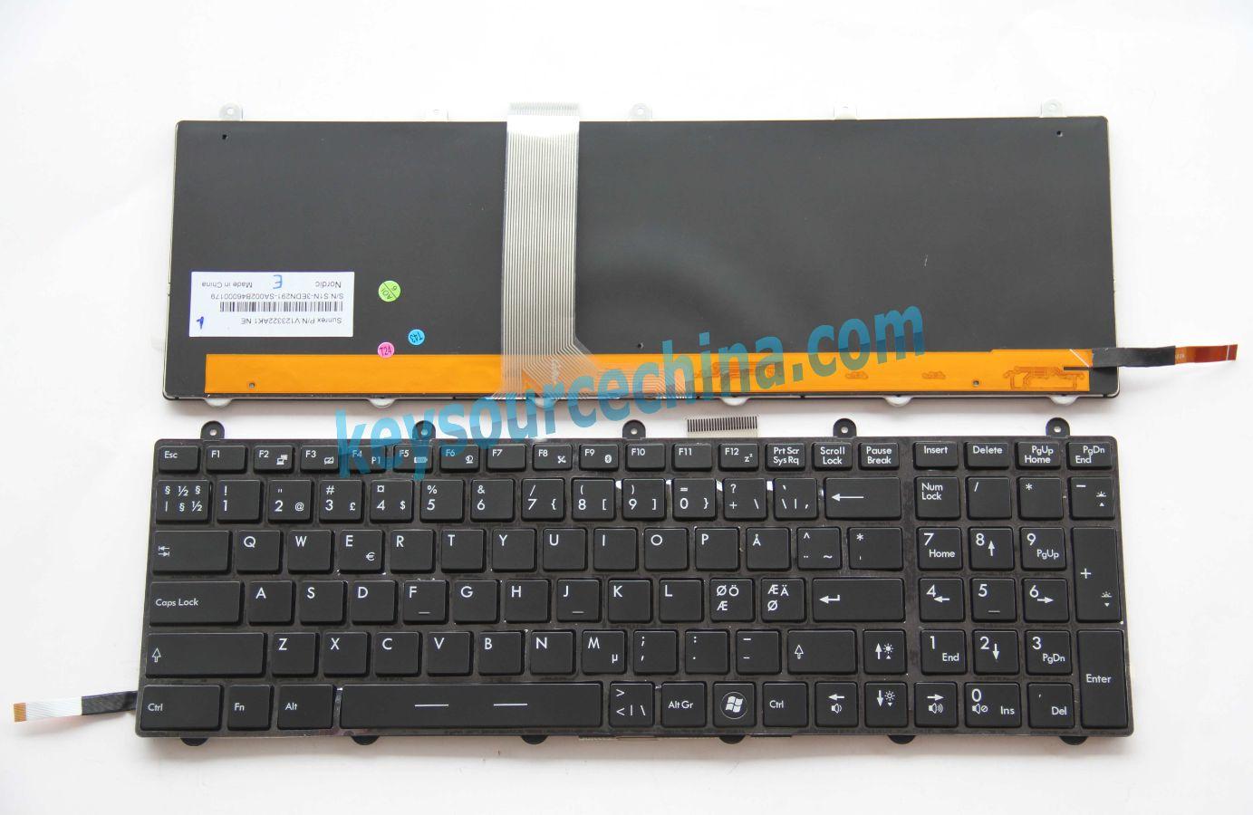 Tastatur Keyboard mit Beleuchtung Version 2 kompatibel f/ür MSI GX70 DEUTSCHE