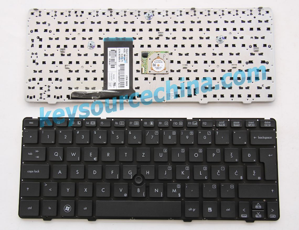 Slovenian Croatian Bosnian Serbian Montenegro Keyboard for HP EliteBook 2560p 2570p Tipkovnica