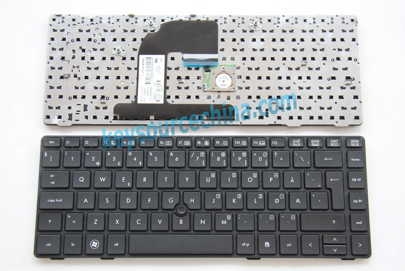 SG-39420-2NA Originalt HP ProBook 6460B Norwegian Keyboard Backlit