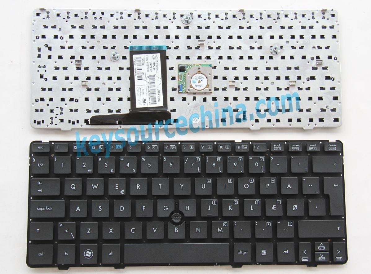 HP EliteBook 2560p 2570p without frame Danish Norwegian ...