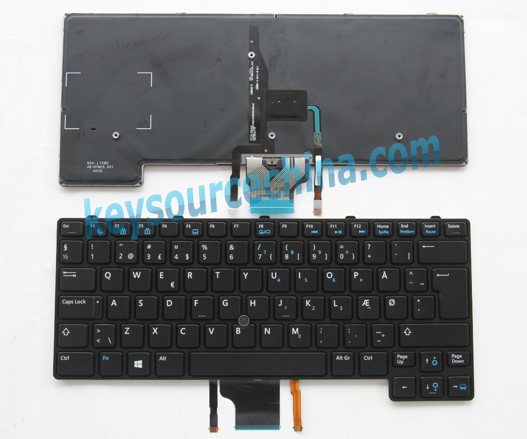 Originalt Dell Latitude 6430u Danish Keyboard