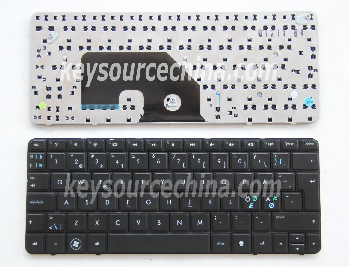 Originalt HP Mini 110-3000 110-3100 110-3110eo 110-3112eo 110-3600eo Nordic Keyboard