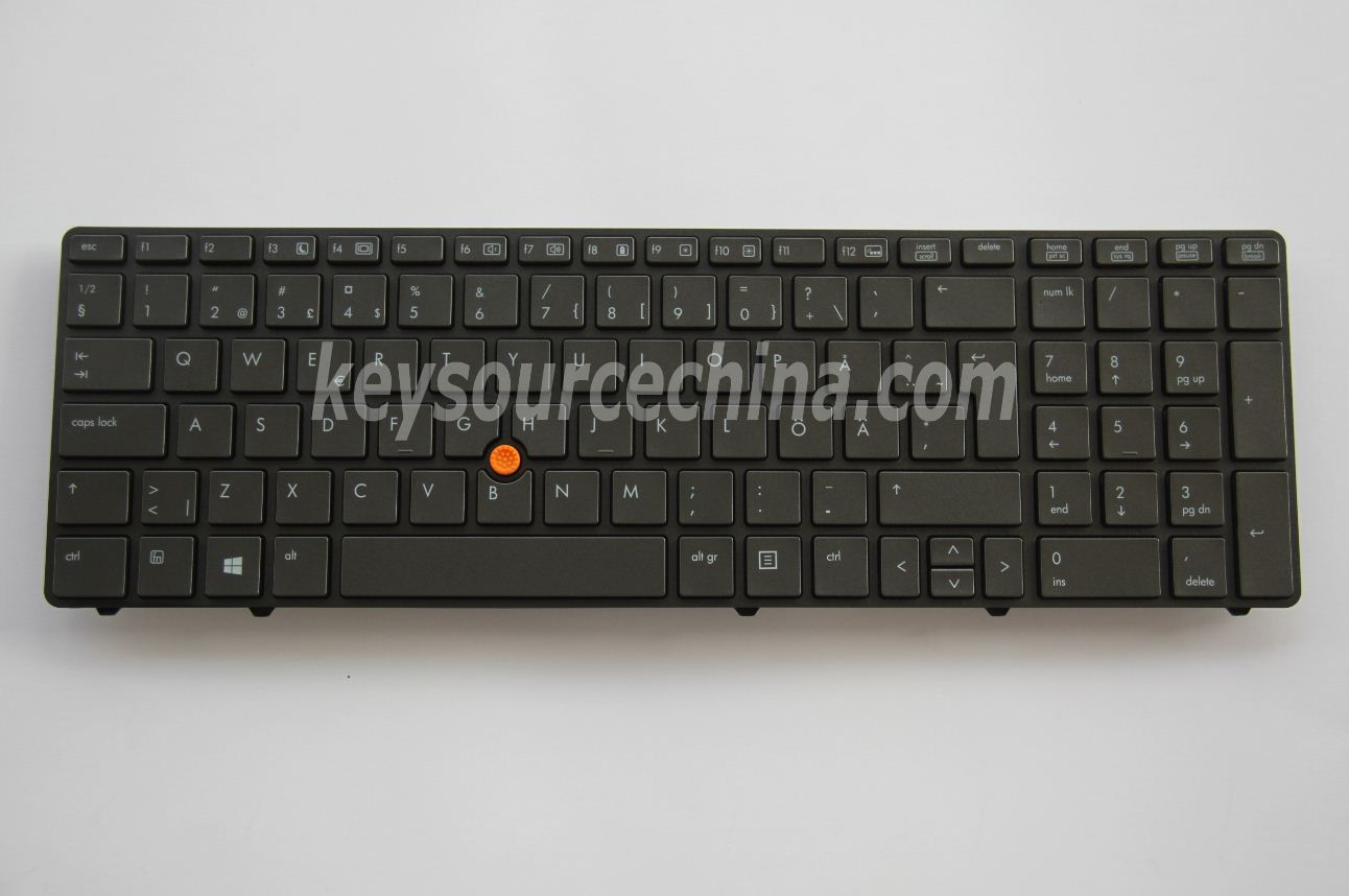 9Z.N6GBF.J0W Original HP EliteBook 8560w 8570w Mobile Workstation Swedish Finnish Keyboard Backlit