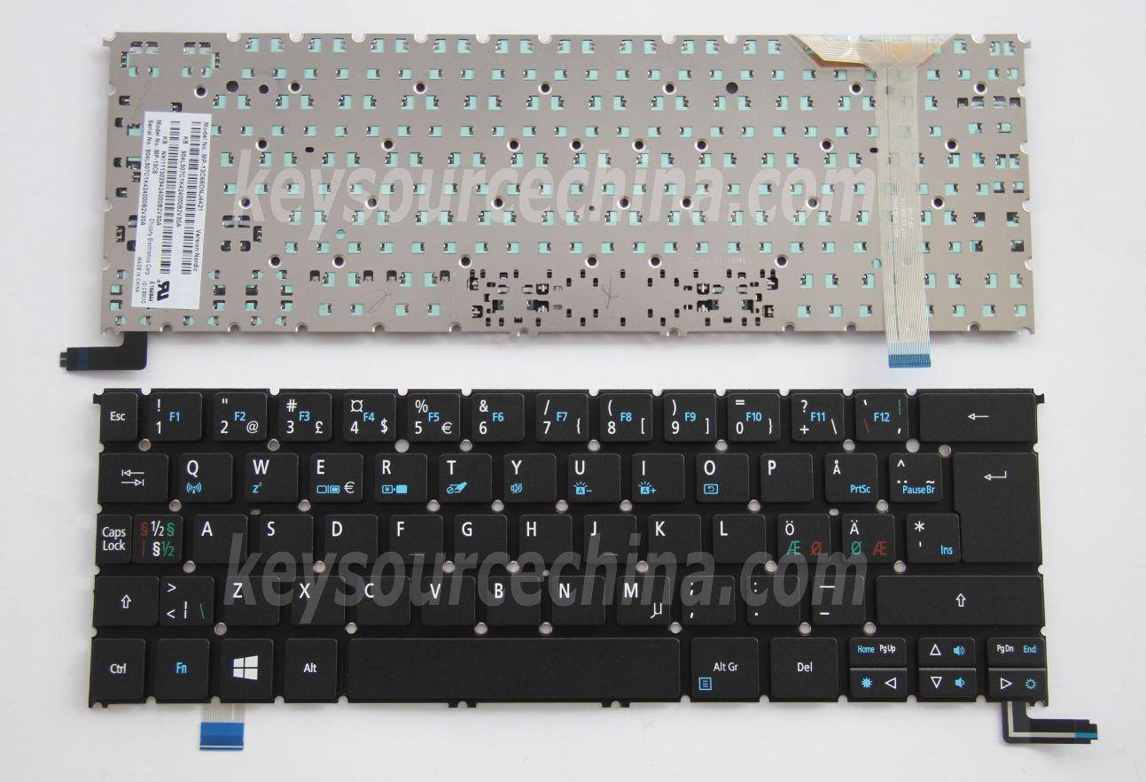 Laptop Keyboard for Acer Aspire 5830G 5830TG V3-531 V3-531G V3-551 V3-551G V3-571 V3-571G E5-771 ES1-512 ES1-731 ES1-731G Belgium BE