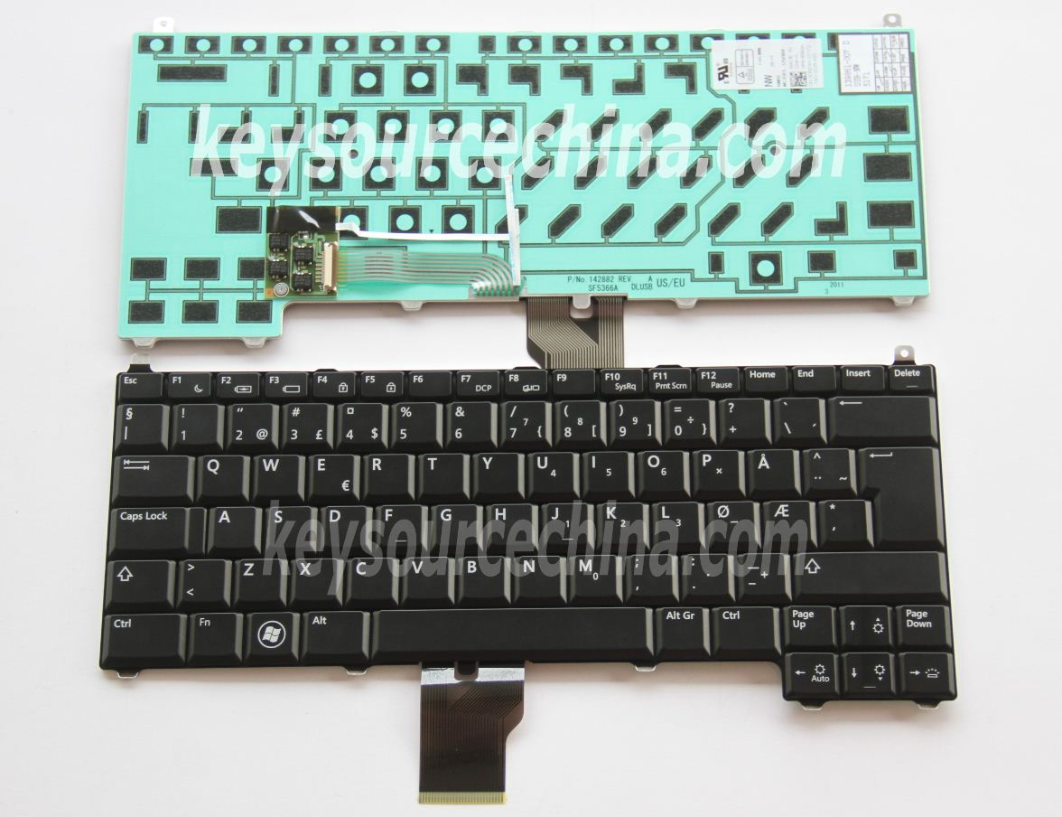 Originalt Dell Latitude E4200 Norwegian Keyboard Backlit