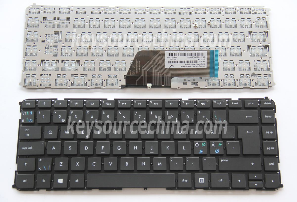 MP-11M66DNJ698W Originalt HP Envy 4-1000 4-1080eo 6-1000, Sleekbook 6-1000 6-1010eo Nordic Keyboard