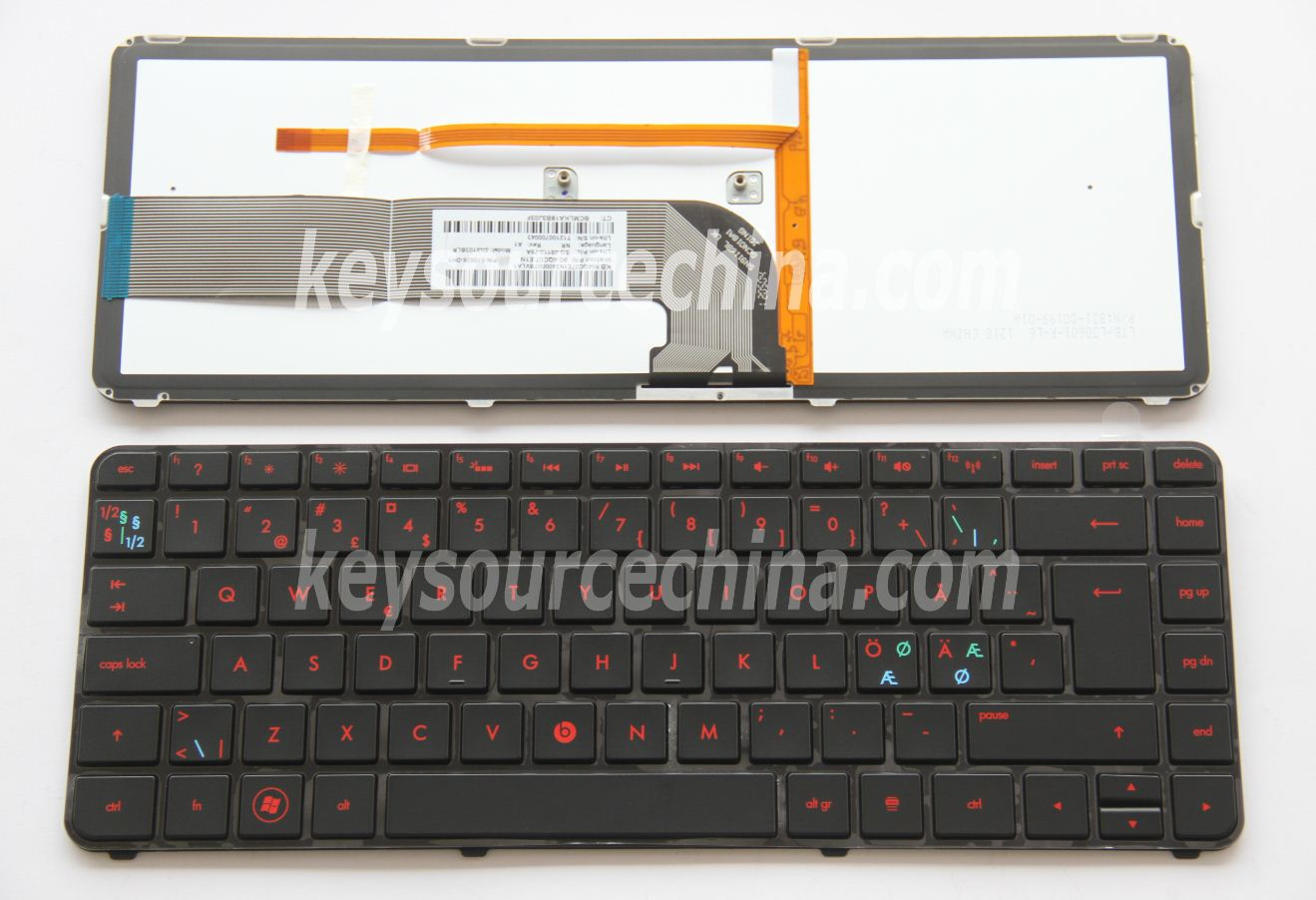 SG-48110-79A Originalt HP Pavilion dm4-3000 dm4-3005eo dm4-3090eo Beats Edition Nordic Keyboard