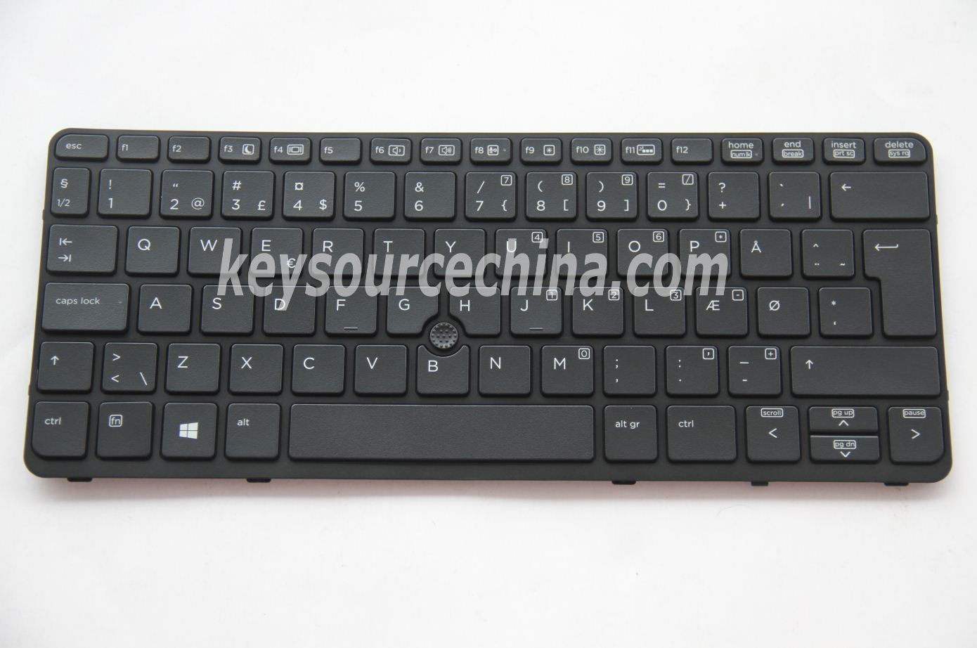 9Z.N9WBV.10D Originalt HP EliteBook 720 G1, 720 G2, 820 G1, 820 G2 Danish Keyboard Backlit