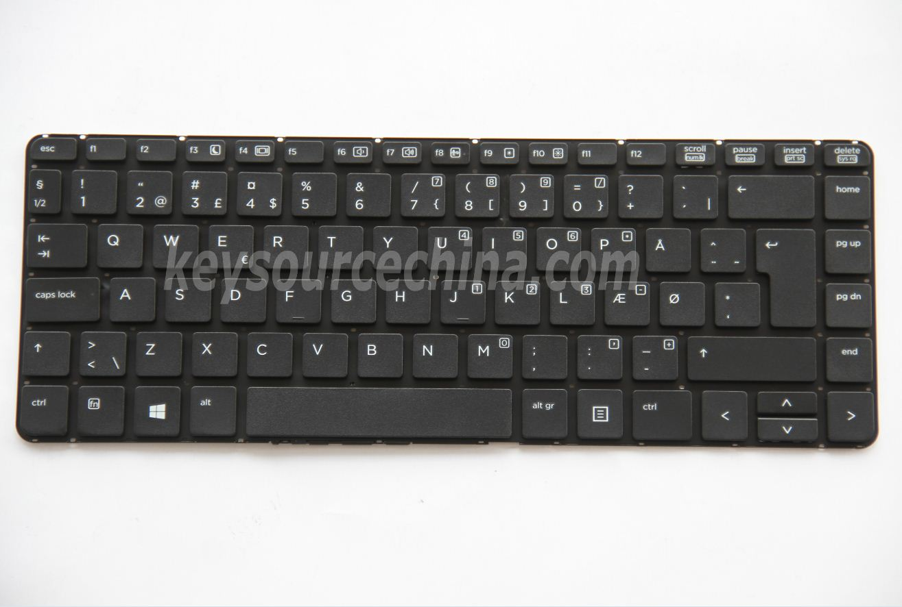MP-12M66DK-4421 Originalt  HP ProBook 430 G1 no frame Danish Keyboard