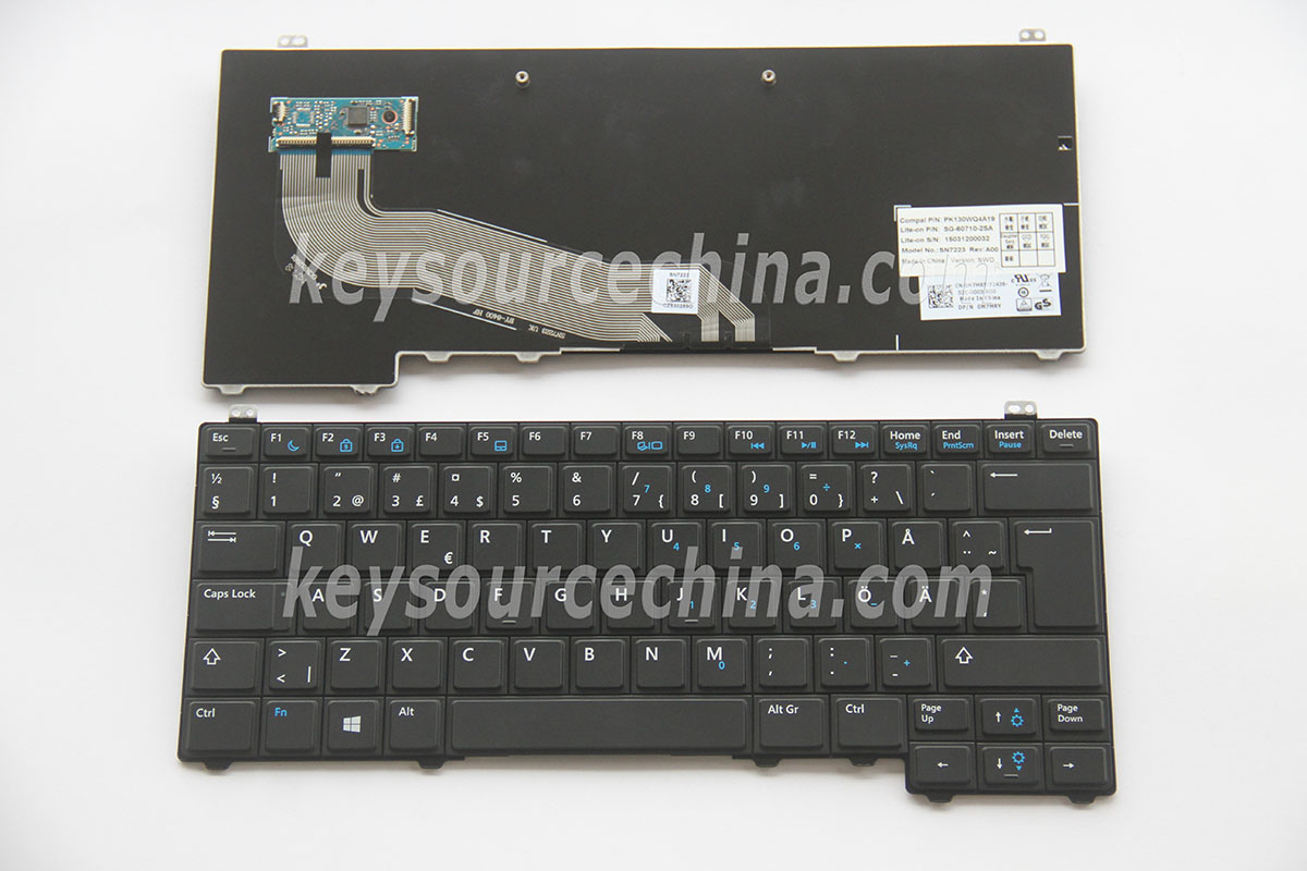 SG-60710-2SA Originalt Dell Latitude E5440 Swedish Finnish Keyboard