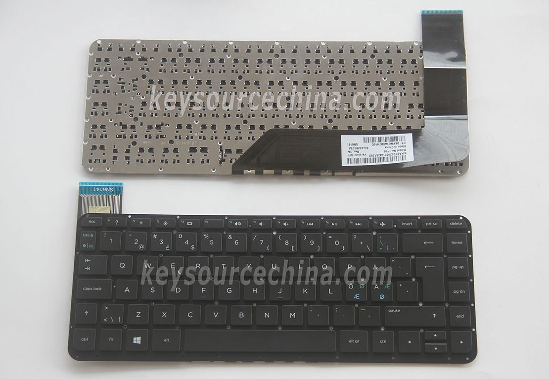 SG-62260-79A Originalt Nordic Keyboard for HP Stream 14-z000 14-z010 Black