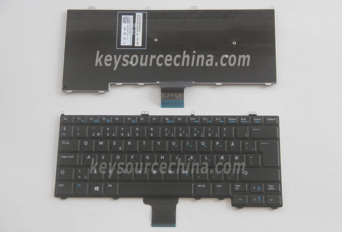 NSK-LDAUC 0D Originalt Dell Latitude E7240 E7440 Black no pointer