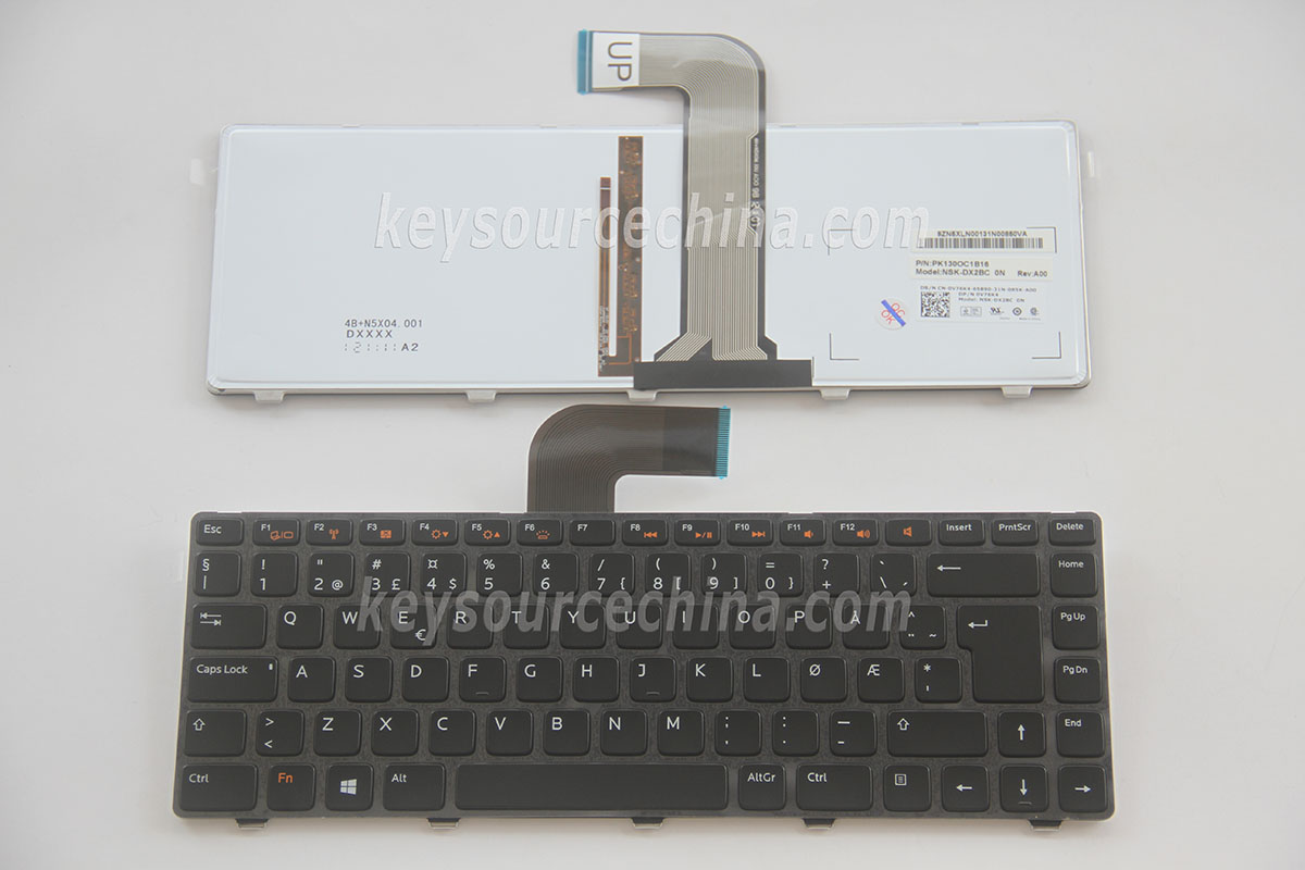 NSK-DX2BC 0N Originalt Dell Inspiron N4110 M4040 N4050 M5040 N5040, XPS 15 L502X Norwegian Keyboard Backlit