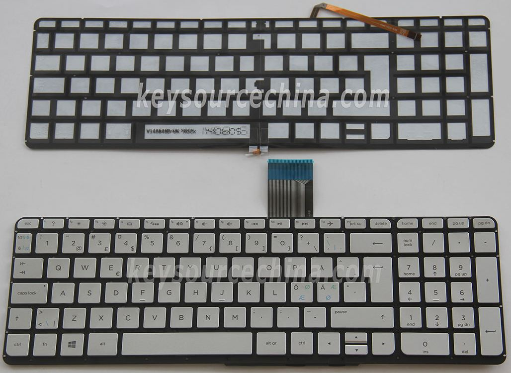 V140646DK1 NE Originalt Nordic Keyboard for HP ENVY X360 15-u 15-u000 15-u005no 15-u100no 15-u230no 15t-u000 Backlit