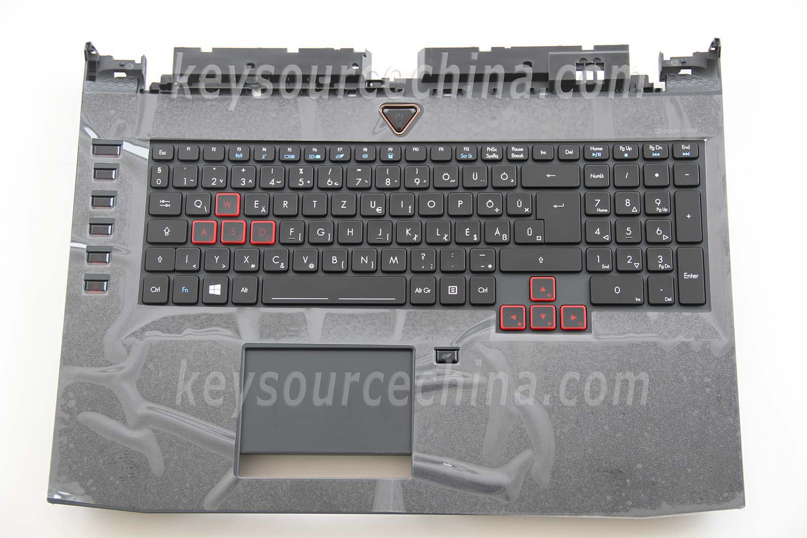 NKI151301G Magyar Billentyűzet for Acer Predator 17 G9-791 Keyboard Hungaian Backlit Top case with touch pad