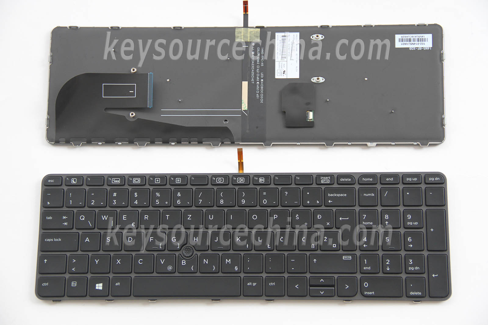 Slovenščina Tipkovnica za HP EliteBook 755 G3 850 G3 755 G4 850 G4 ZBook 15u G3 ZBook 15u G4 Slovenian Croatian Laptop Keyboard Backlit