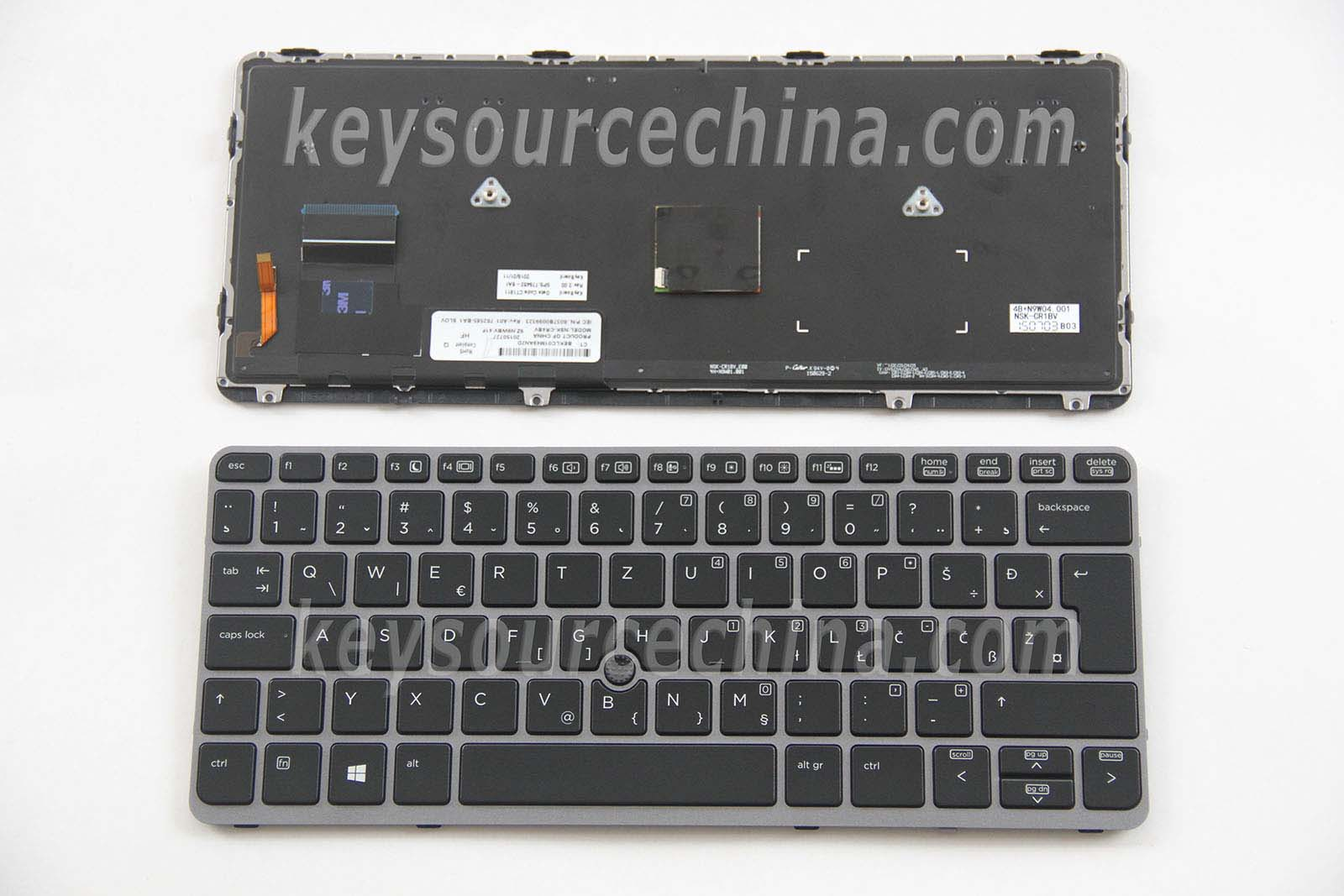 762585-BA1 HP EliteBook 720 G1 720 G2 725 G2 820 G1 820 G2 Backlit Tipkovnica Slovenian Bosnian Croatian Serbian Laptop Keyboard