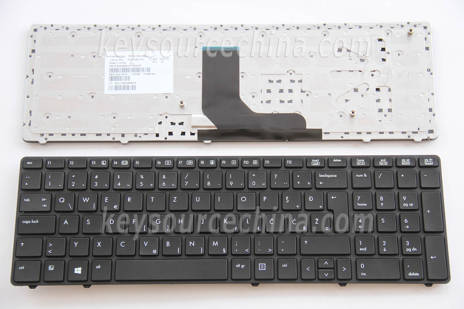HP Probook 6560b 6565b 6570b No Pointer Tipkovnica Slovenian Bosnian Croatian Serbian Laptop Keyboard