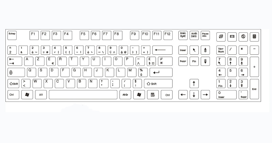 French Keyboard Layout Keyboard Layouts Keysource Laptop Keyboards